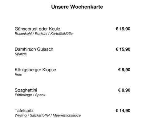 TO GO WOCHENKARTE